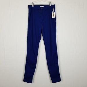 FOREVER 21 Navy Blue Knit Skinny Pants Sz 27